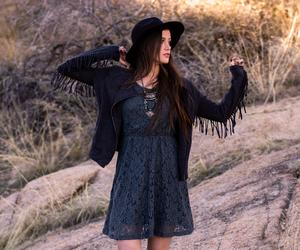 bohemian, fashion, and lace dress image