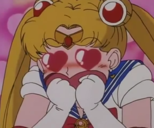 sailor moon, love, and pink image