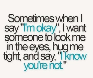 quotes, hug, and okay image