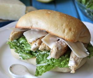 food, Chicken, and sandwich image