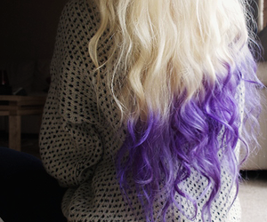 hair, purple, and blonde image