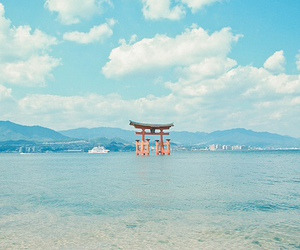 japan, blue, and sea image