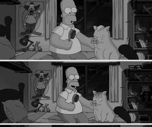 funny, porco aranha, and the simpsons image