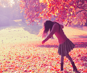 girl and autumn image