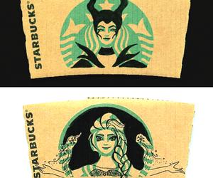 starbucks, maleficent, and art image