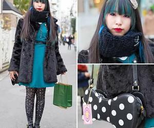 black, Harajuku, and blue image