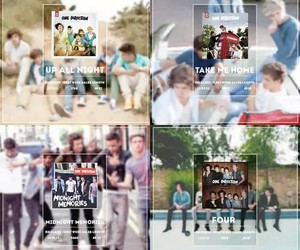 one direction, four, and album image