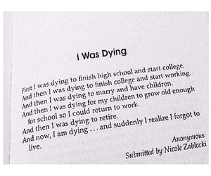 dying and live image