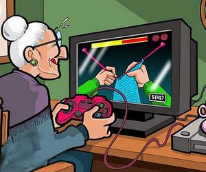 funny, grandma, and game image