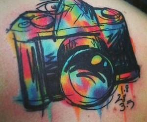 tattoo, camera, and camara image