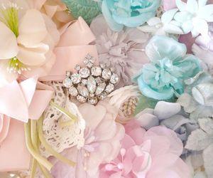 beautiful, flowers, and jewel image