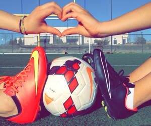 heart, nike, and soccer image