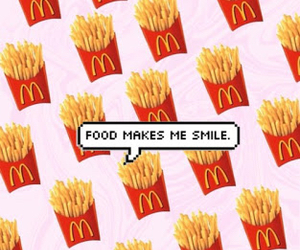 food, wallpaper, and smile image