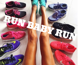 run, baby, and fit image