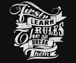 rules, black, and quote image