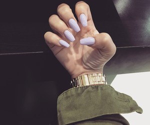 nails, watch, and gold image