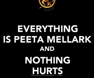 hurt, the hunger games, and peeta mellark image