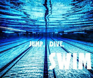 dive, jump, and swim image