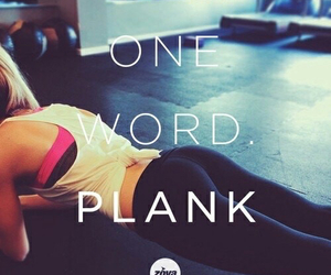 fitness, plank, and fit image