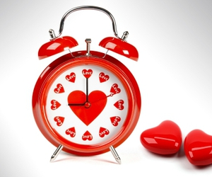alarm clock, red, and clock image