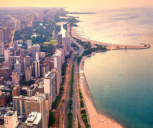 city, beach, and summer image