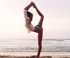 beach, fitness, and summer image