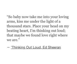 ed sheeran, thinking out loud, and love image