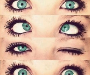 eyes, green, and blue image