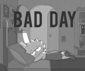 bad day, sad, and simpsons image