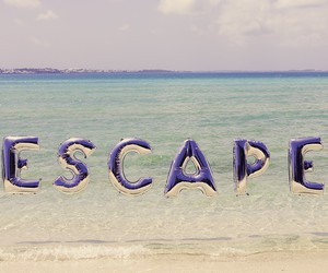 beach, cool, and escape image