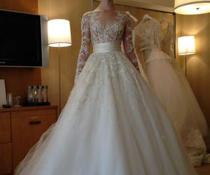 bride, fashion, and wedding dress image