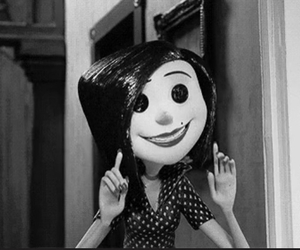 black, coraline, and smile image