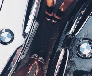 bmw, girl, and car image