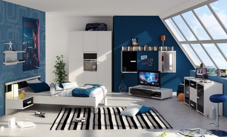 Bedroom Cool Design Of Teen Boy Room Decor With Wonderful Style
