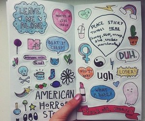 art, drawing, and american horror story image