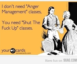 anger management, someecards, and the image