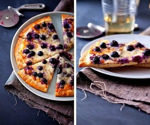 blueberry, pizza, and food image