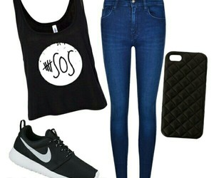 black, Polyvore, and outift image