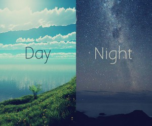 night, day, and sky image