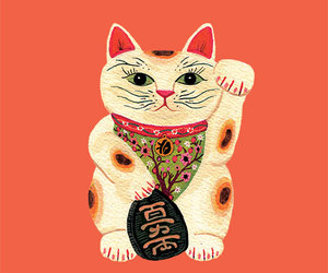 asia, cat, and good luck image