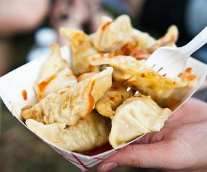 food, dumplings, and yummy image