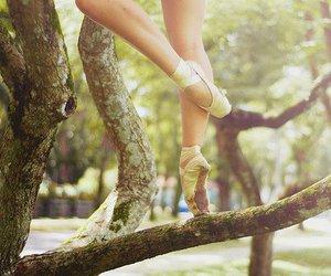 ballet, tree, and ballerina image