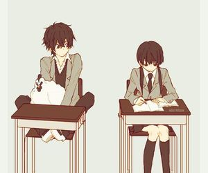 anime, love, and tonari no kaibutsu-kun image