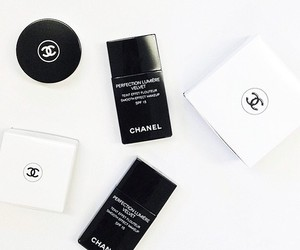 chanel, makeup, and white image