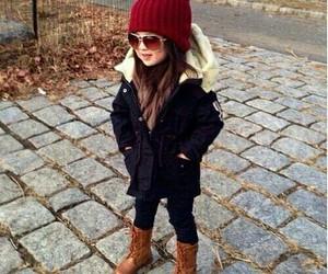 fashion, kids, and winter image