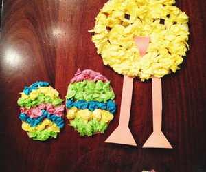 arts and crafts, chickens, and easter image