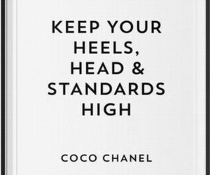 chanel, heels, and quote image