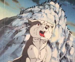 anime, dog, and silver fang image