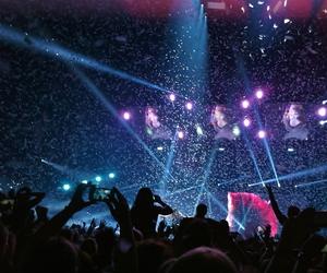 bright, concert, and confetti image