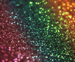 glitter, blue, and pink image